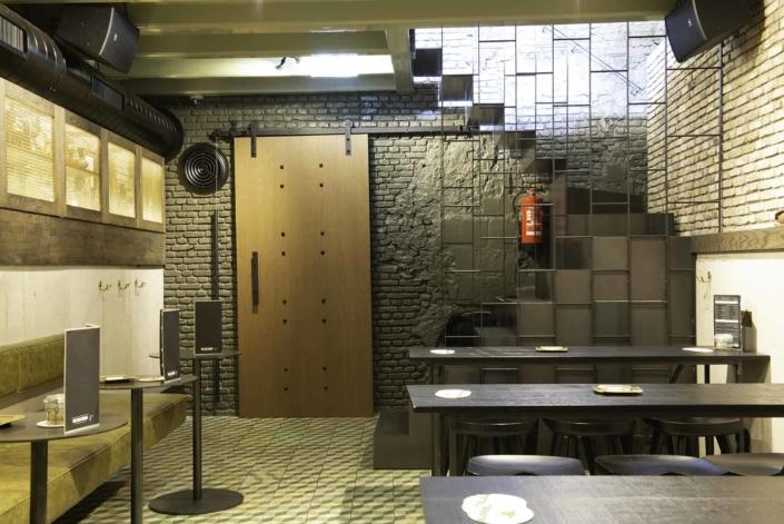 Toilet door in the CoffeeshopAmsterdam Café basement