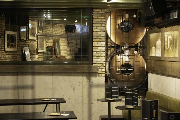 Copper Heineken Beer Tanks