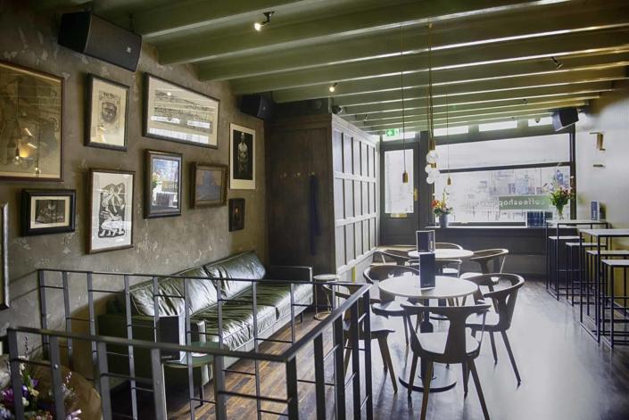 Ground floor interior of CoffeeshopAmsterdam Café