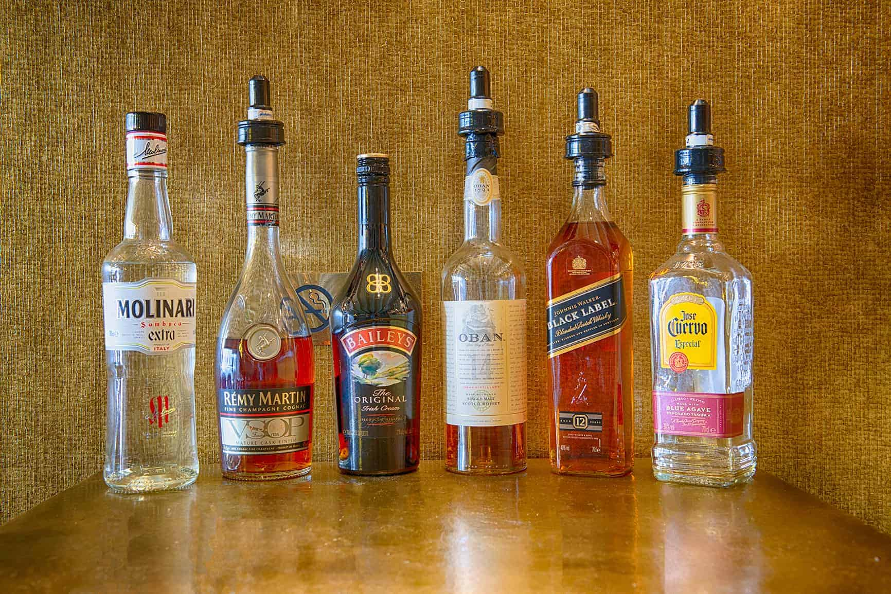 Selection of alcohol available from the cafe menu at CoffeeshopAmsterdam Café