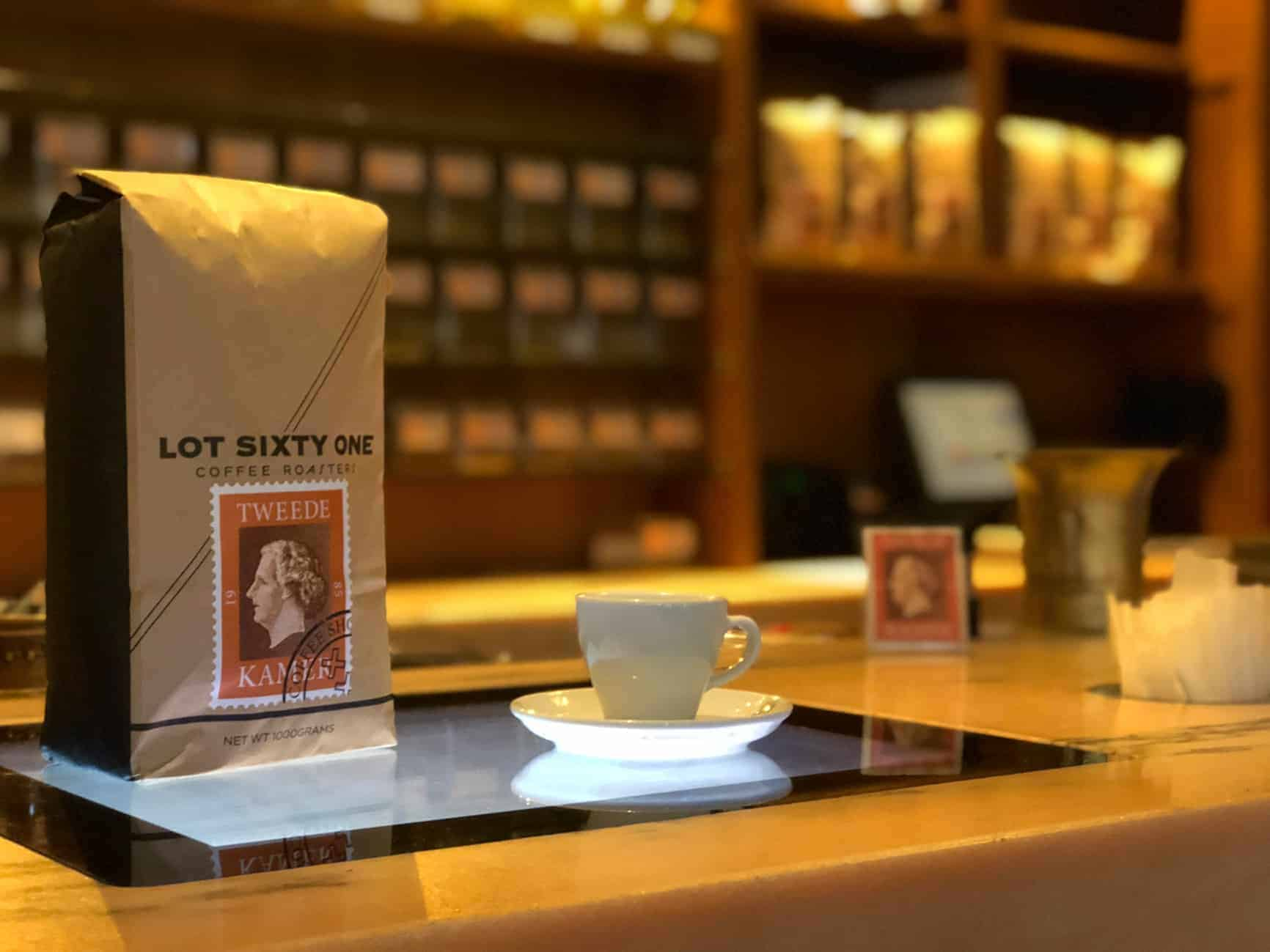 Lot Sixty One Coffee as available from the Tweede Kamer Coffeeshop